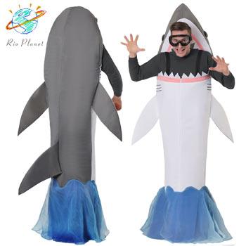 サメ おもしろ 仮装 コスプレ コスチューム お笑い 爆笑 衣装 SHARK ATTACK COSTUME