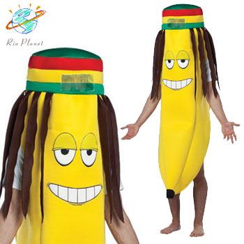 バナナ おもしろ レゲエ 仮装 コスプレ コスチューム お笑い 爆笑 衣装 RASTA BANANA COSTUME