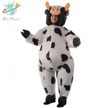 ウシ おもしろ 動物 膨らむ 仮装 コスプレ コスチューム COW COSTUME