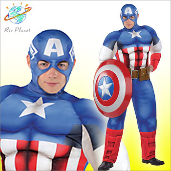 キャプテン アメリカ 大人 コスプレ コスチューム キャプテン アメリカ 大人 コスプレ コスチューム