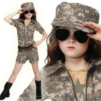ミリタリー アーミー 子供 海軍 空軍 コスプレ コスチューム 仮装 衣装 ハロウィン MILITARY