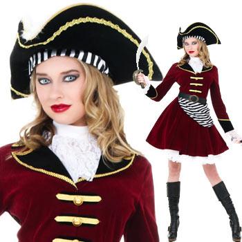海賊 キャプテンフック レディース 大きいサイズ あり ハロウィン コスプレ パイレーツ コスチューム 衣装 仮装 CAPTAIN HOOK