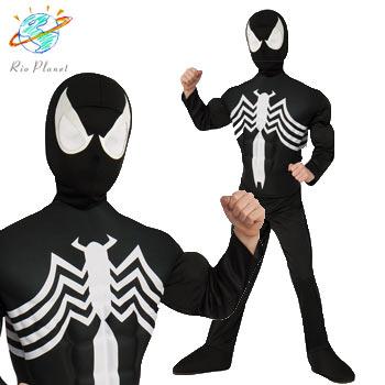 スパイダーマン ブラックスパイダーマン スーツ 子供用 コスプレ コスチューム ハロウィン Holloween Spider-Man