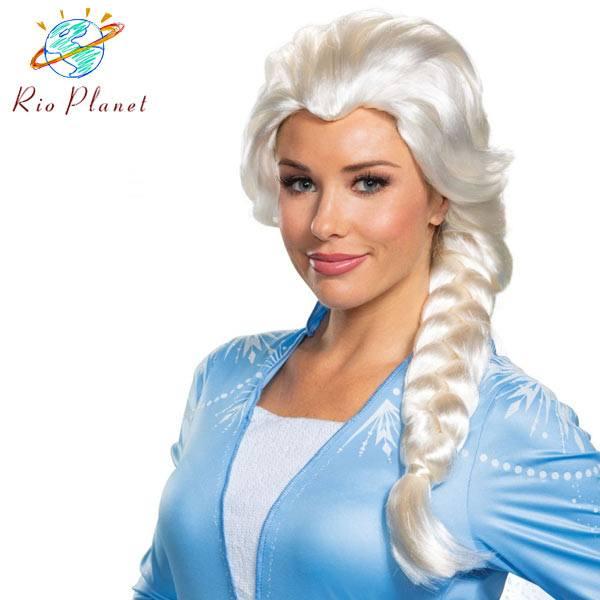アナと雪の女王 2 エルサ ウイッグ かつら アナ雪 キッズ コスプレ 衣装 仮装 コスチューム Frozen 2