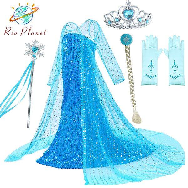 アナと雪の女王 ドレス 子供 エルサ なりきり ワンピース アナ雪 キッズ コスプレ 衣装 仮装 コスチューム Frozen