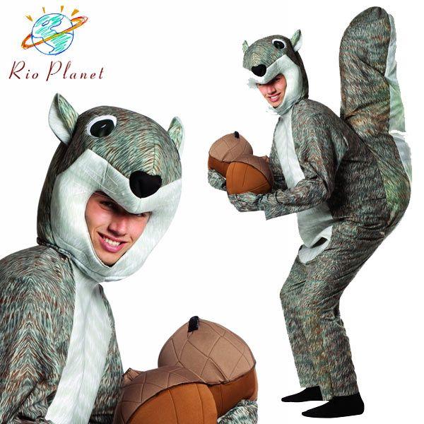 リス 着ぐるみ コスプレ 大人用 動物 アニマル リアル 衣装 ハロウィン Squirrel