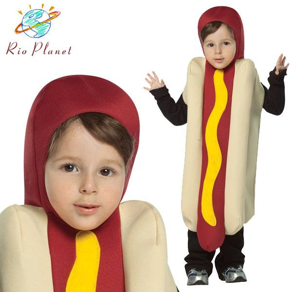 ホットドッグ 着ぐるみ コスプレ 子供用 衣装 仮装 面白い おもしろ ハロウィン Hot Dog