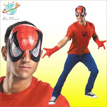 スパイダーマン マスク グローブ エンブレム 3点セット スパイダーマン マスク グローブ エンブレム 3点セット