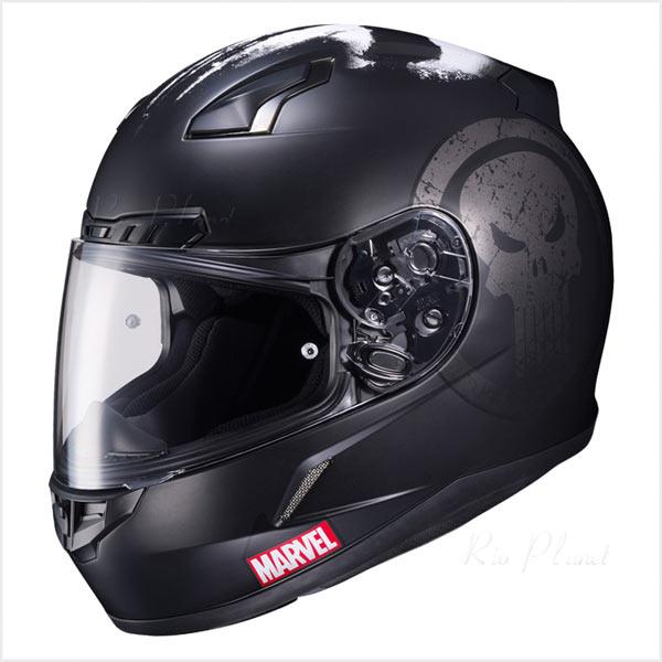 ヘルメット バイク フルフェイス エアロデザイン シールド マーベル パニッシャー