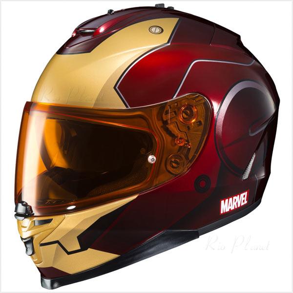 ヘルメット バイク フルフェイス エアロデザイン シールド マーベル アイアンマン