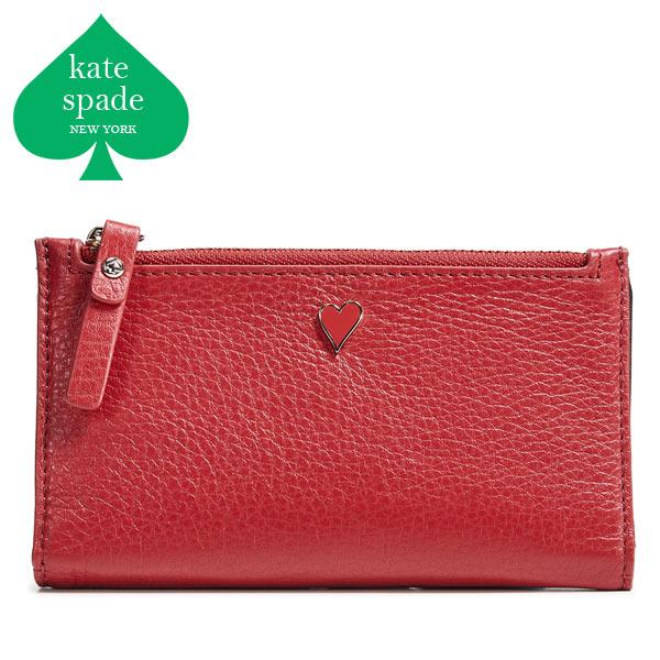 ケイトスペード 二つ折り財布 財布 ハート レディース ブランド 使いやすい 本革 コンパクト Kate Spade