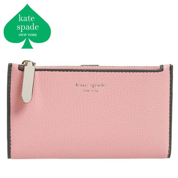 ケイトスペード 財布 二つ折り ミニ財布 折り財布 ピンク レディース ブランド 大人可愛い Kate Spade
