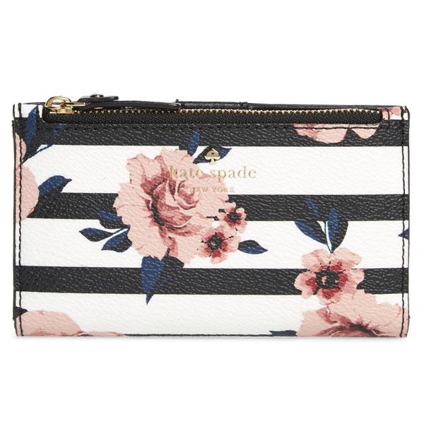 ケイトスペード 財布 二つ折り財布 花柄 レディース ミニ財布 ブランド Kate Spade