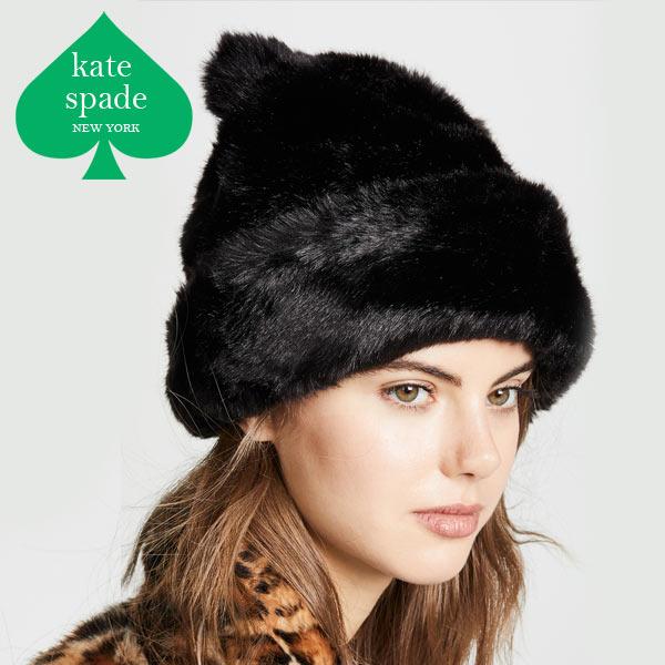 ケイトスペード ニット帽 レディース ブランド 猫 猫耳 ウール ビーニー Kate Spade