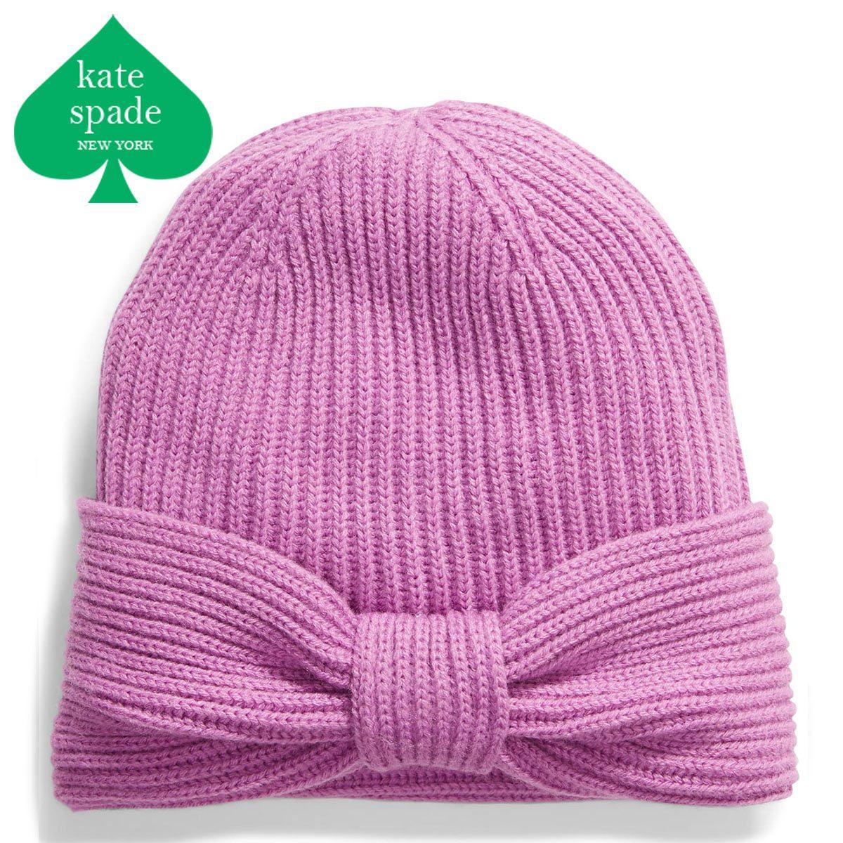 ケイトスペード ニット帽 リボン ブランド レディース ビーニー ビーニー帽 ニット ニット帽子 KATE SPADE NEW YORK