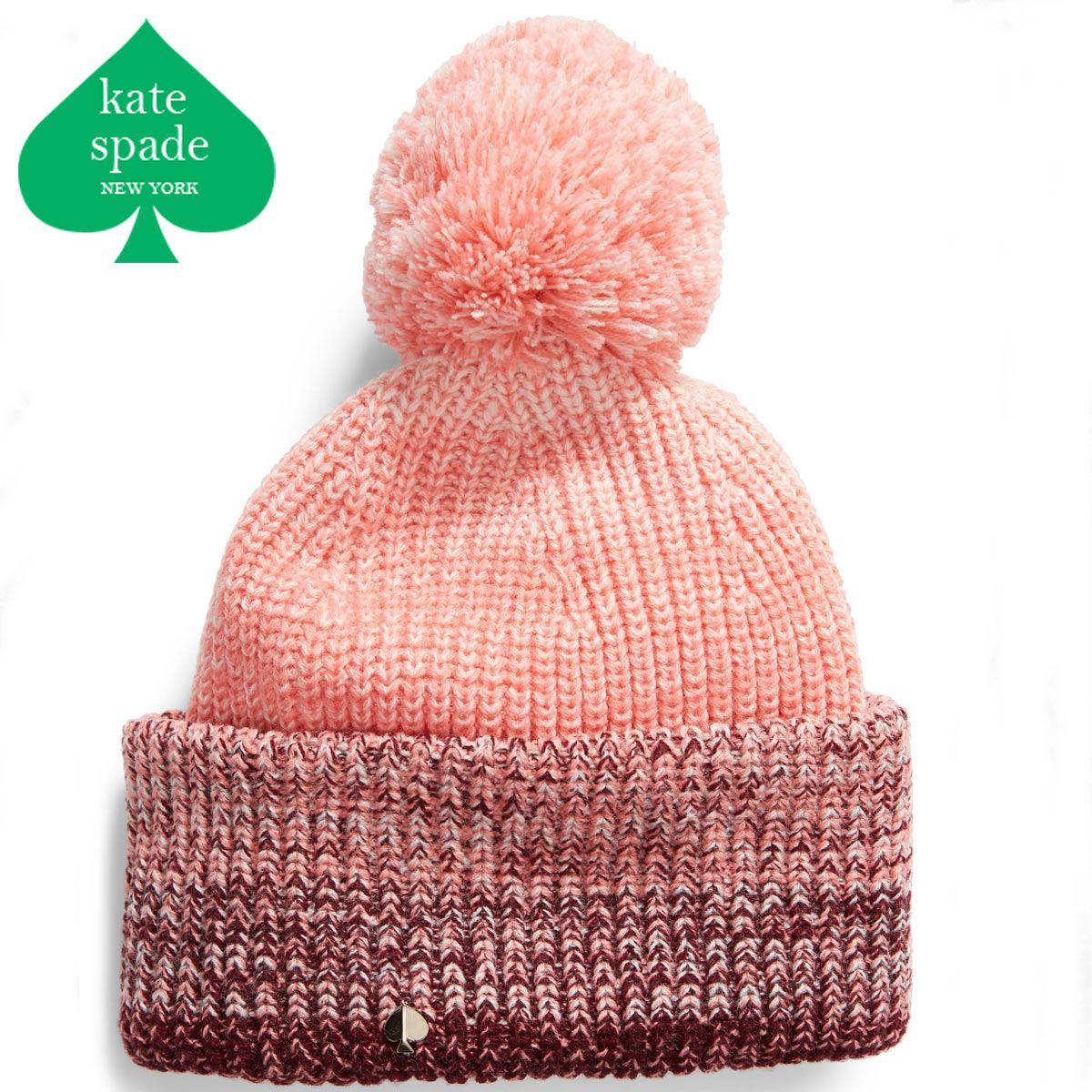 ケイトスペード ニット帽 ボンボン ブランド レディース ビーニー ビーニー帽 ニット ニット帽子 KATE SPADE NEW YORK