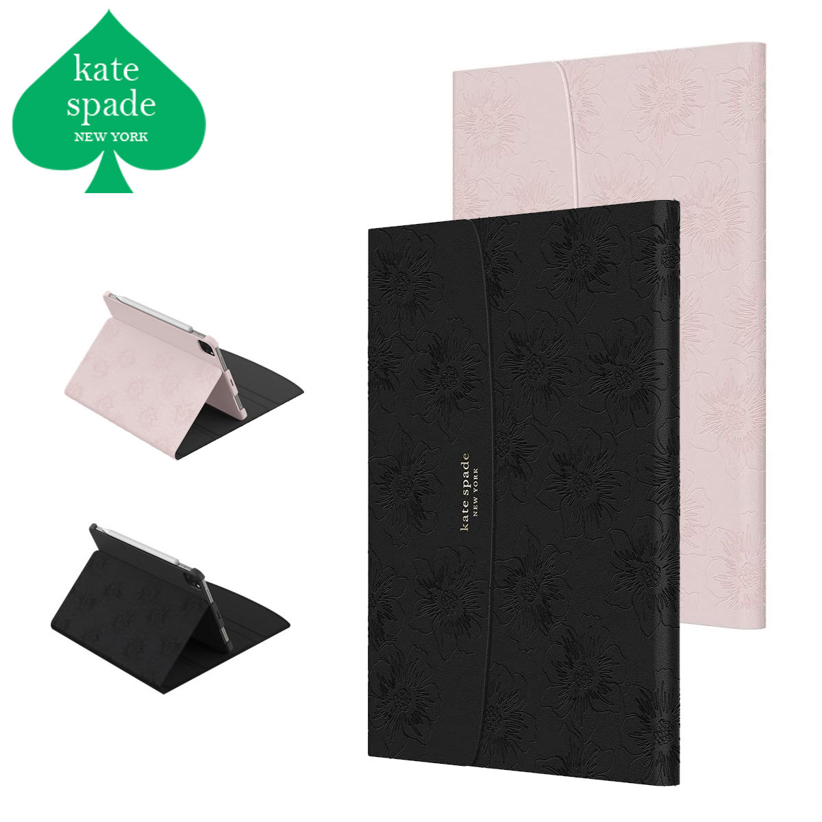 ケイトスペード iPad ケース 11インチ Pro air4 希少 ペン収納 高品質 可愛い スタンド Kate Spade