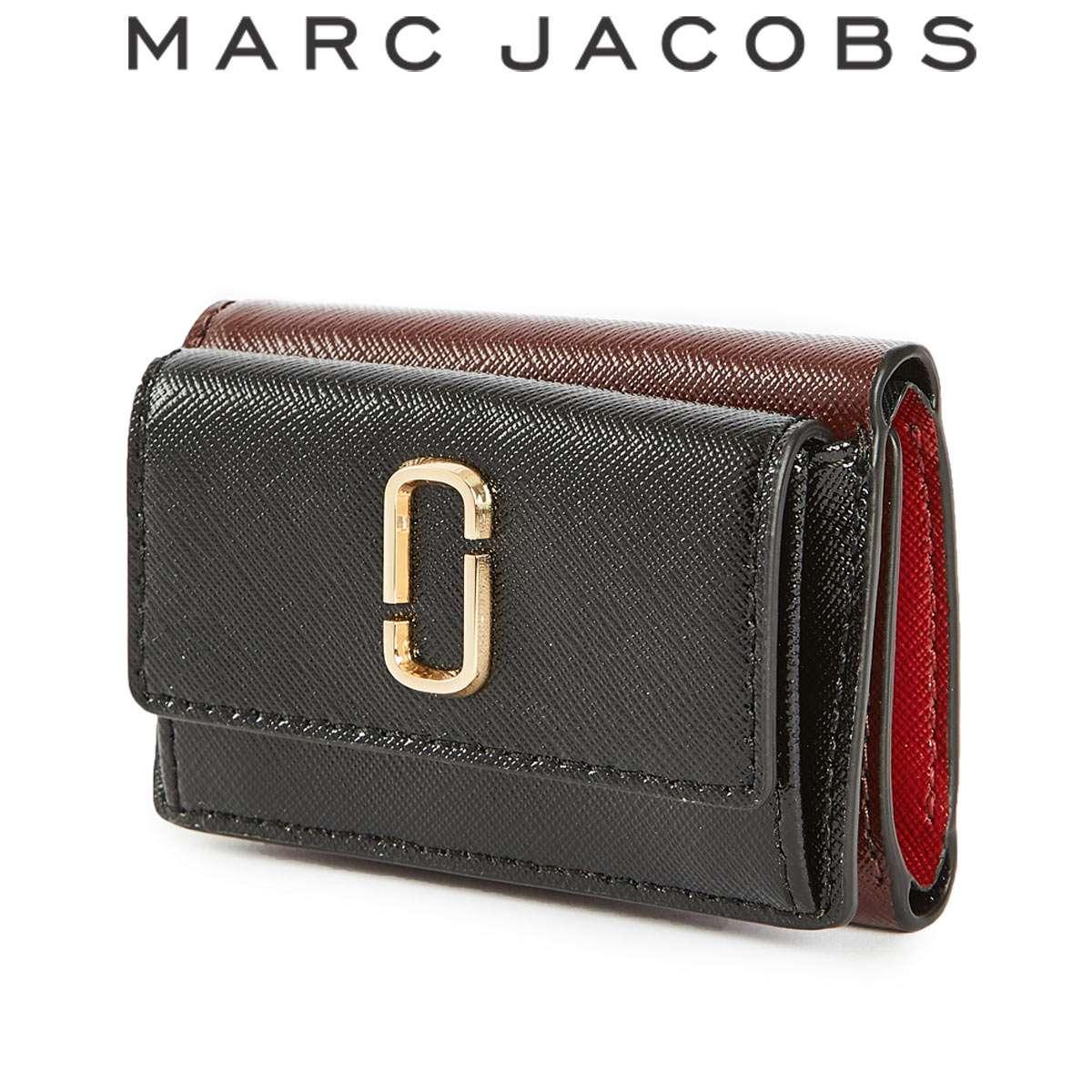 マークジェイコブス 財布 三つ折り レディース ミニ ブランド Jacobs SNAPSHOT 売り出し 新品 送料無料 Marc スナップショット アウトレット