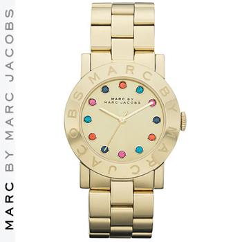 """【正規品取扱店】 マーク バイ マーク ジェイコブス 腕時計 デクスター MARC BY MARC JACOBS """"Dexter Amy"""" Round Bracelet Watch カラー:ゴールド"""