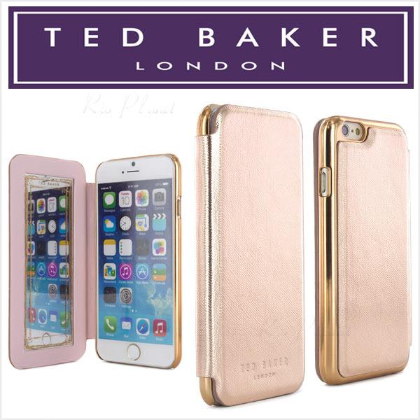 テッドベーカー iPhone6 ケース iPhone6s テッドベイカー iPhone TED BAKER 手帳型 ケース おしゃれ 鏡付 ミラー付