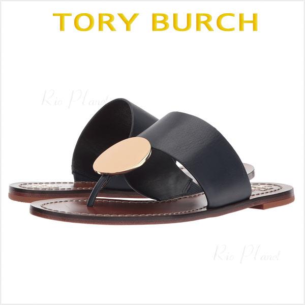 トリーバーチ サンダル トング 黒 レザー レディース 履き心地 サイズ TORY BURCH