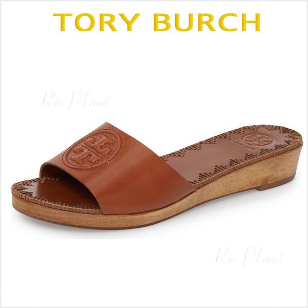 トリーバーチ サンダル レザー ロゴ ブラウン レディース 履き心地 サイズ TORY BURCH PATTY パティ