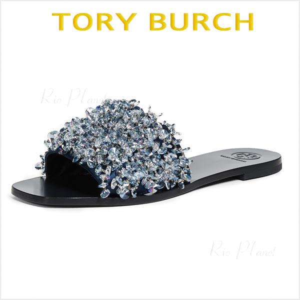 トリーバーチ サンダル 黒 ぺたんこ 歩きやすい レディース 履き心地 サイズ TORY BURCH