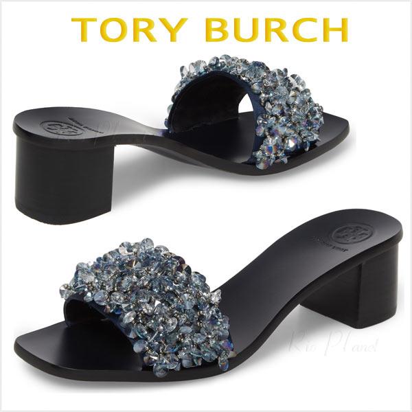 トリーバーチ サンダル ヒール 黒 靴 レディース 履き心地 サイズ TORY BURCH