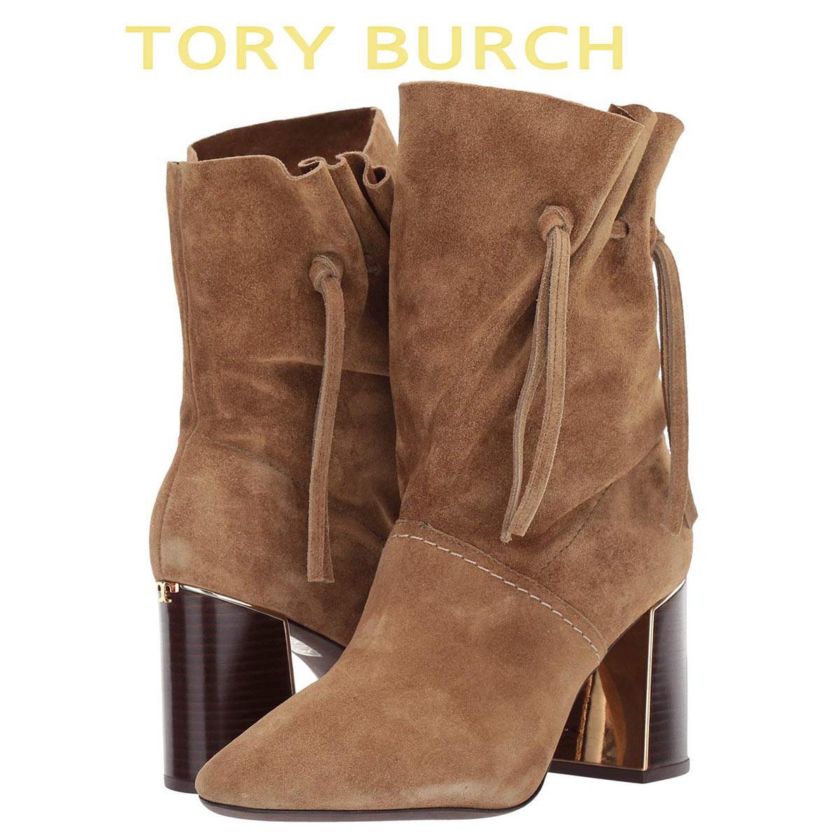 トリーバーチ ブーツ シューズ 靴 レディース 大きいサイズ あり ブーティ ミドル 本革 Tory Burch