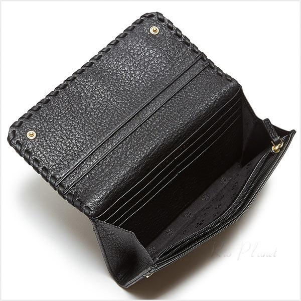 正規品取扱店 トリーバーチ 財布 Tory Burch MARION ENVELOPE CONTINENTAL WALLET カラー:ブラック
