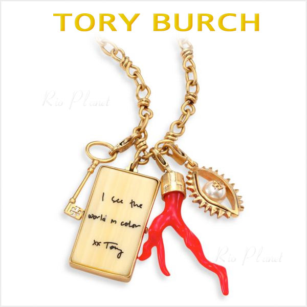 トリーバーチ ネックレス レディース ブランド ペンダント CHARM CLUSTER 新作 プレゼント Tory Burch 正規品