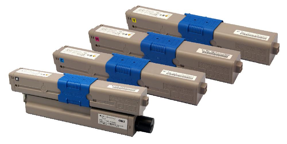 OKI TNR-C4H(K/C/M/Y)2(4色セット)リサイクルトナー【送料無料】【リターン再生商品】