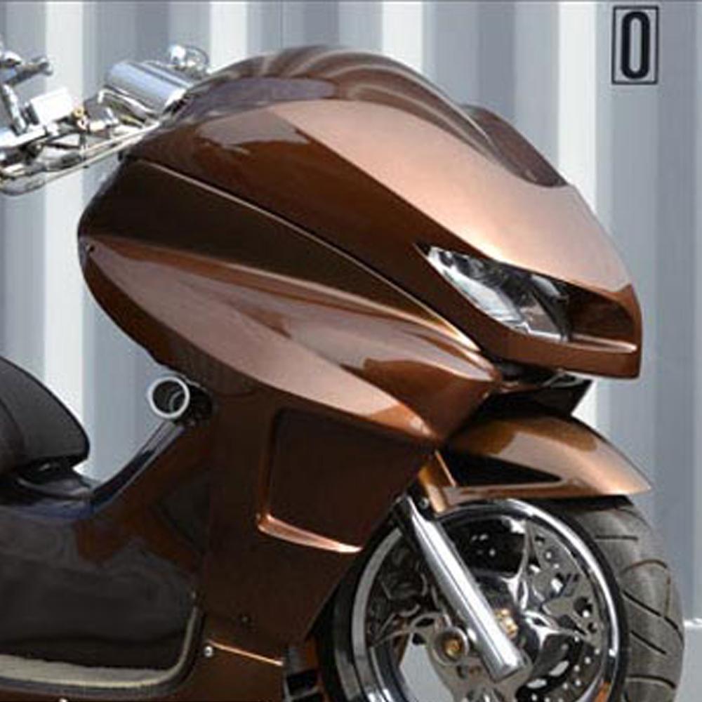 送料無料!TOPMOST製 フォルツァ FORZA MF08(前期用) 純正色 塗装込み フロント DGフェイス マスク 外装 パーツ #