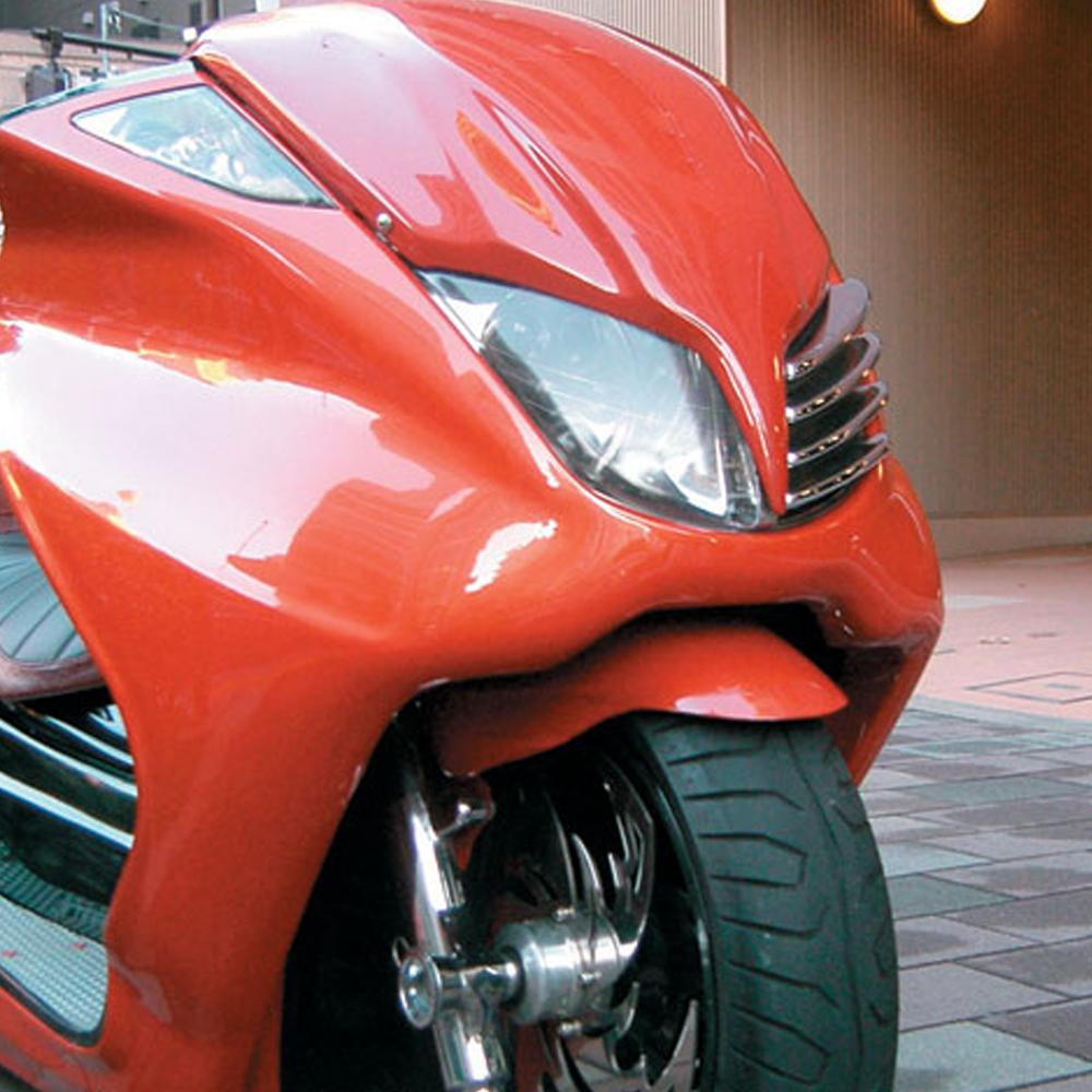 代引き手数料無料! TOPMOST製 マジェスティ C SG03J 白ゲル 逆付き フロントフェンダー 未塗装 外装 パーツ MAJESTY マジェスティー #