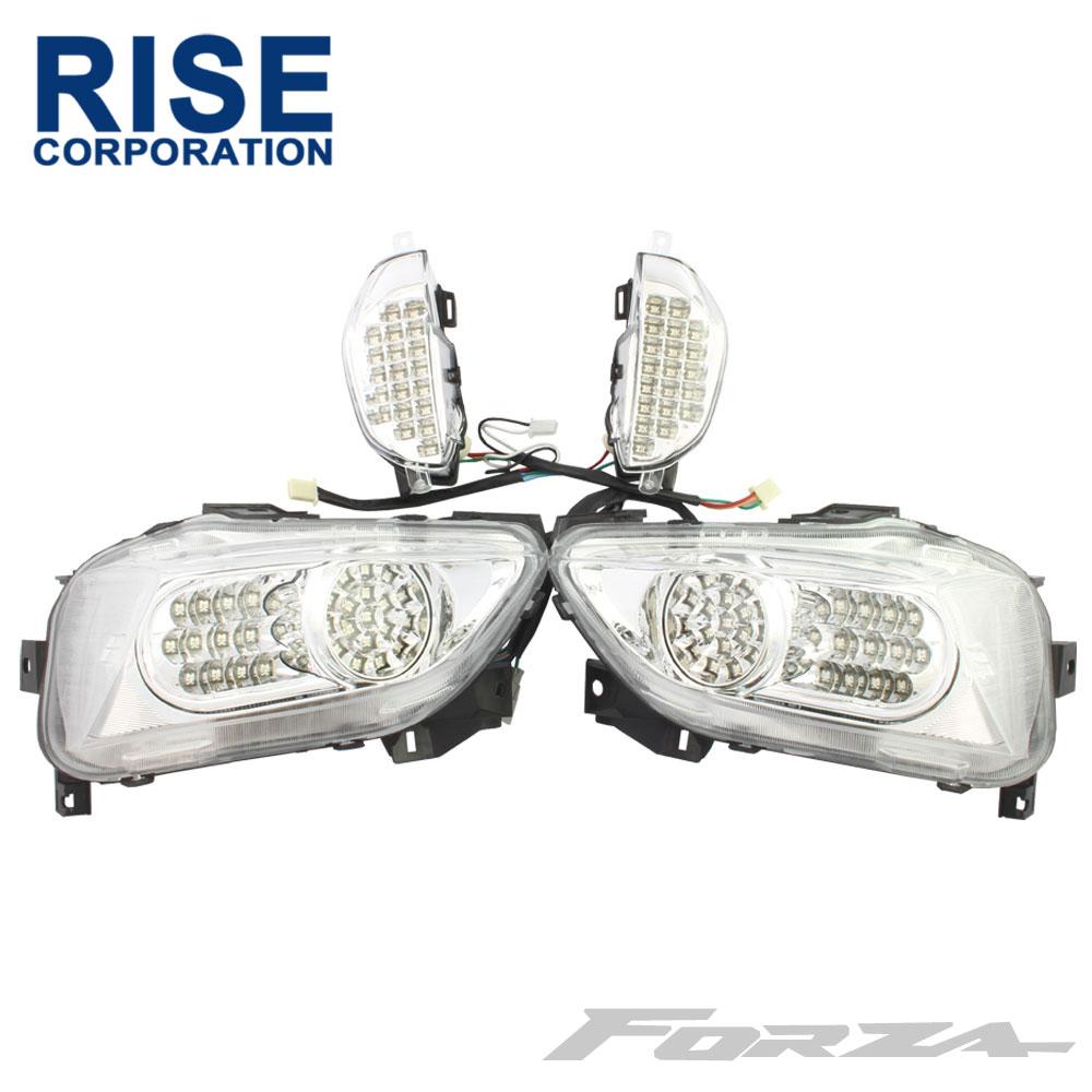フォルツァ MF10 LED仕様 クリア テールランプ テールライト&フロント ウィンカー セット ハイフラ防止 ユニット付 FORZA カスタム パーツ