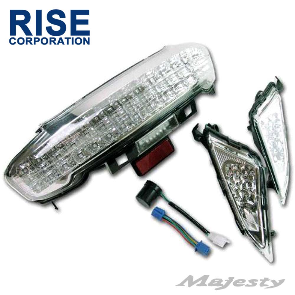 【あす楽対応】 マジェスティ C SG03J LEDクリアテールランプ & フロントLEDクリアウインカー セット ICウインカーリレー付き パーツ ヤマハ マジェスティー MAJESTY