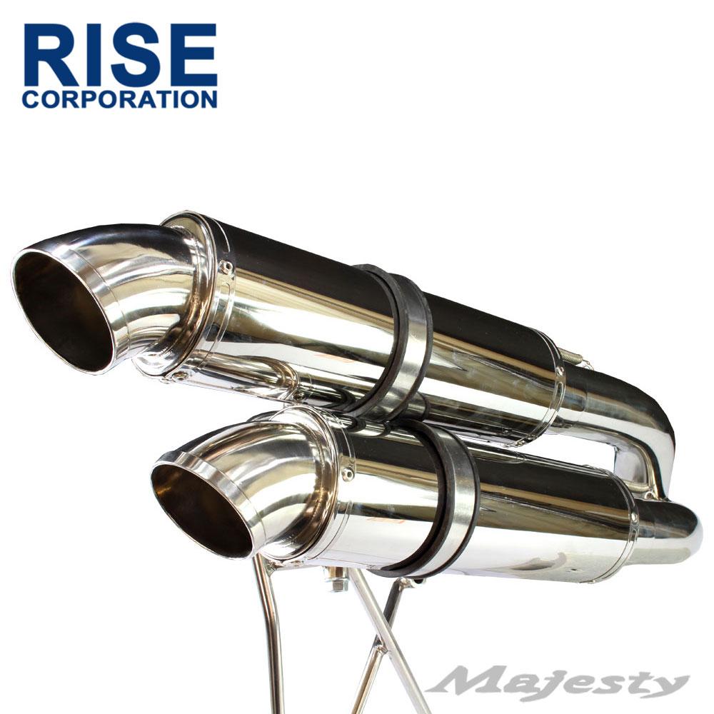 マジェスティ C MAJESTY SG03J 5GM 5SJ カールエンド セミアップ デュアル マフラー