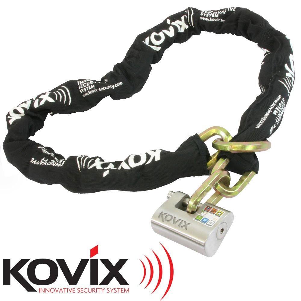 ご購入特典付き! KOVIX アラーム付パッドロック&チェーンロックセット1.5m