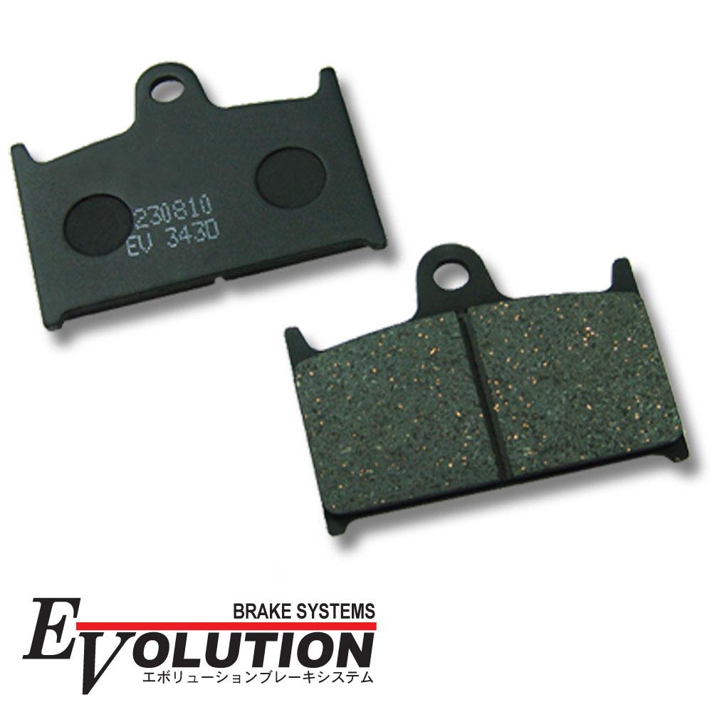 Evolution バイク用ブレーキパッド 2020A W新作送料無料 EV-343D ブレーキパッド パット フロント用 GSX-R400R GK76A GSX750R GR7CA GSX-R750 RF900R GT73E 引出物 GSX-R750W GSX-R1100 TZ250 TZ250GP GV73A GSX1100R パーツ GSX-R750R