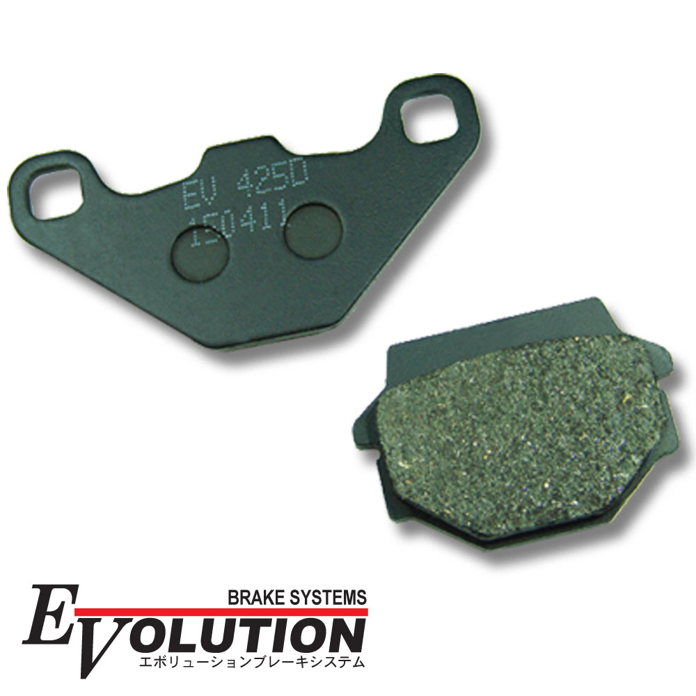 Evolution バイク用ブレーキパッド EV-425D ブレーキパッド パット KSR-1 MX050B KLR250 エストレヤ BJ250A ZZ-R250 EX250H KL250G KLE250 LE250A KLR250 KR-1 KR250B バリオス ZR250A ZR250B ZXR250 ZX250C EX-4 EX400B GPZ400S EX400A KLE400 エリミ ZR400D FX400R ZX400A GPZ400R ZX400D