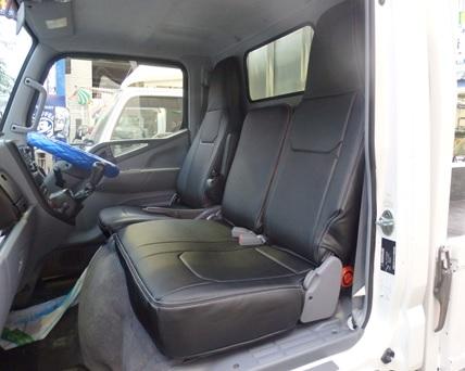 Hang(ハング) トラック専用設計 PVCレザーシートカバー ブラック ミツビシ キャンター(ジェネレーション) 7型 標準キャブ