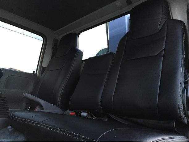 Hang(ハング) トラック専用設計 PVCレザーシートカバー ブラック 日産 アトラス 4型 H43系 標準キャビン (2t~4.5t)