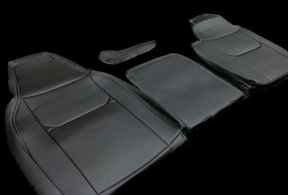 Hang(ハング) トラック専用設計 PVCレザーシートカバー ブラック 日産 NT450アトラス 5型 H44系 ワイドキャブ カスタム