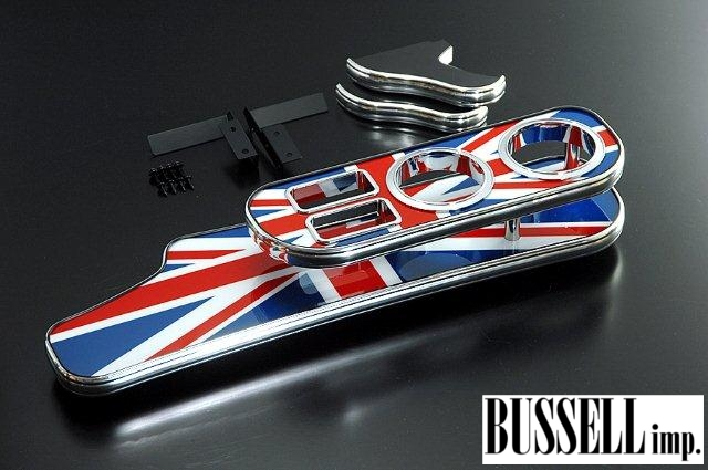 サイズ区分140 バッセル フロントナビテーブル ユニオンジャック BMW MINI R58 ミニ クーペ BUSSELL imp