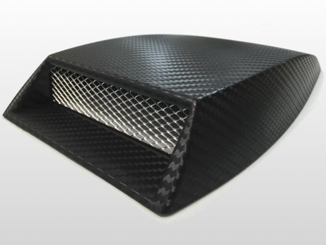 送料区分120サイズ 激安挑戦中 流行 汎用ダミーエアースクープ インテーク ボンネットダクト ワンポイントドレスアップ カーボンルック ボンネットに ルーフに
