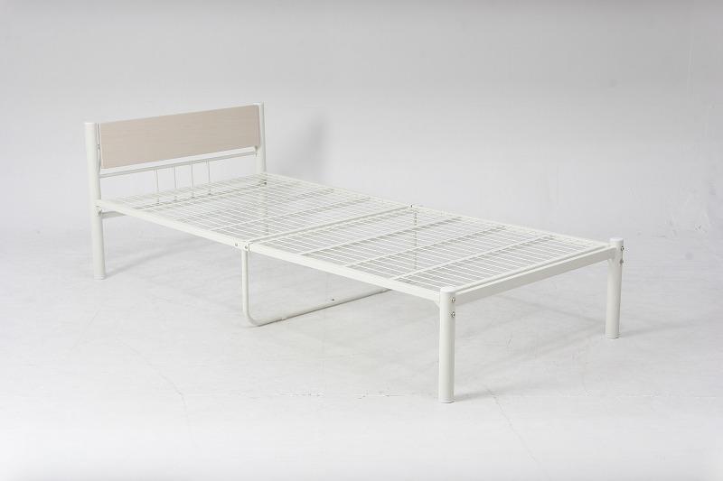 パイプベッド ベッド ベット パイプ ホワイト シングル 可動宮付 シングルベッド アイボリー MT-210IV アウトレット 人気