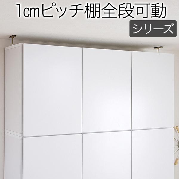 自在ラック 扉付き 薄型可動棚 MEMORIA 棚板が1cmピッチで可動する 深型扉付上置き幅120.5 garbl