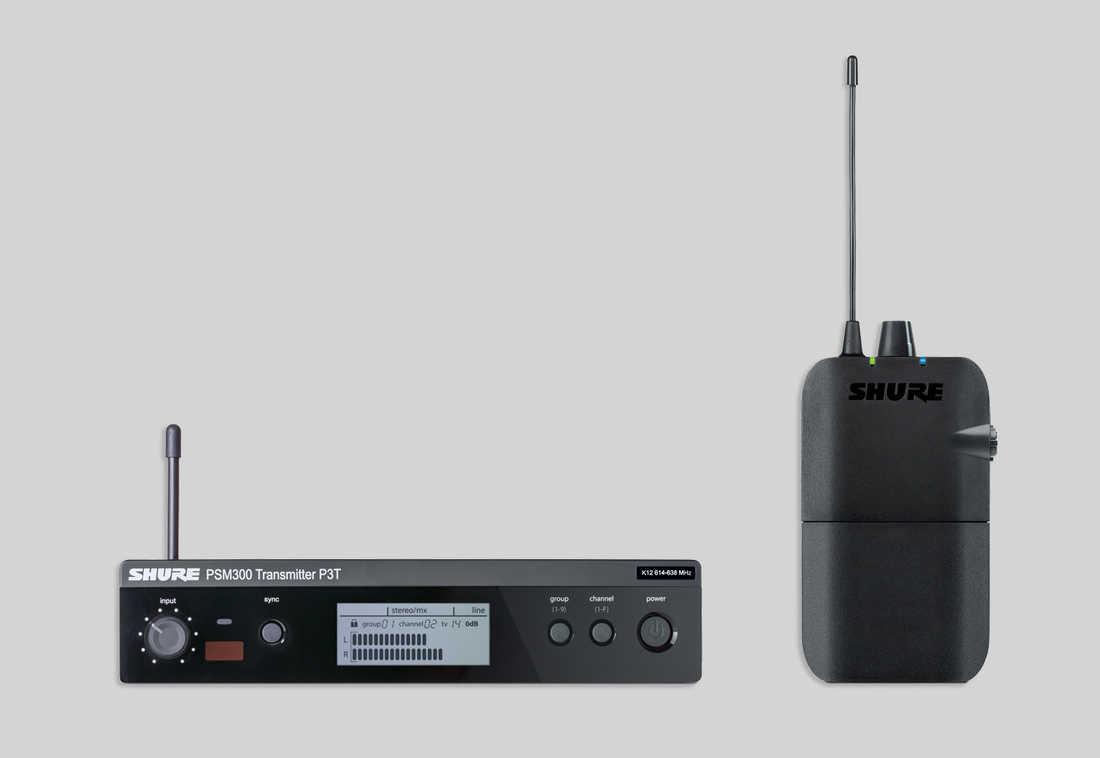SHURE ( シュアー ) 【PSM300】 P3TR インイヤーモニターシステム (送受信機のセット)