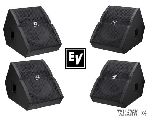 EV エレクトロボイス TX1152FM ×4台 セット販売 モニタースピーカー