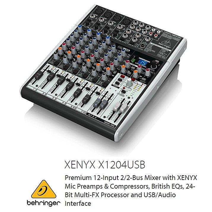 BEHRINGER/べリンガー X1204USB XENYX USBオーディオインターフェース搭載 アナログ・ミキサー